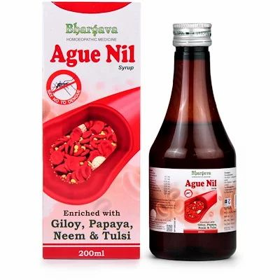 Ague Nil Syrup 200ml best homeopathic syrup for Powerful Immune Booster Protect from Dengue Virus high temperature Dr.Bhargava