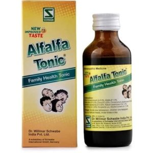 Alfalfa Tonic 100ml best homeopathic medicine weakness lack of appetite stress debility sleep disorders schwabe