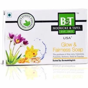 B&T Glow & Fairness Soap 75gm best homeopathic medicine Beneficial in Skin Blemishes Dark Spots and Improves Complexion
