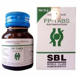 FP Tablets 25gm best homeopathic tablets for fissures and piles pain and bleeding from anus SBL
