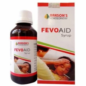 Fevo Aid syrup 115ml best homeopathic medicine for fever flue running nose sneezing cough body soreness Bakson