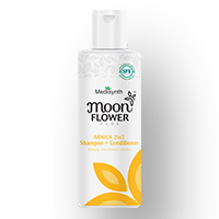 Moonflower Arnica 2 in 1 Shampoo + Conditioner 200ml homeopathic medicine for nourishment of hair natural shiny hair smoothness of hair Medisynth