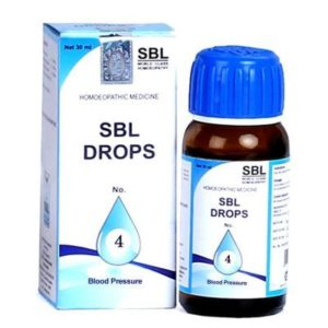 SBL No.4 Blood Pressure Drops 30ml best homeopathic medicine help in regulating high blood pressure, relieves anxiety and headache