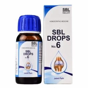 SBL No.6 Joint Pain Drops 30ml best homeopathic medicine relieve pain in arthritis sprains joint swelling muscle cramps