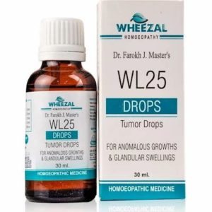 WL25 Tumor Drops 30ml best homeopathic medicine Controls the growth of Glandular Swellings cysts relieves pain Wheezal